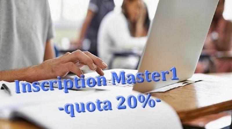الترشح لمسابقة الماستر بالنسبة لحصة 20% بعنوان السنة الجامعية 2021-2022